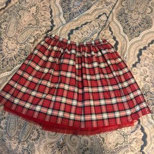 Plaid Lands End Skirt